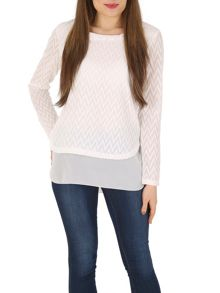Izabel London Layered Top Textured