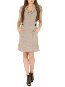 Izabel London Knitted Aztec Print Dress