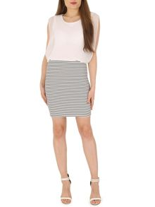 Izabel London Monochrome Two in One Dress