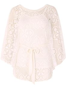 Izabel London Oversized Lace Poncho