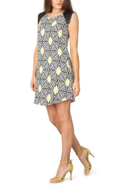 Izabel London Graphic Aztec Print Tunic Dress