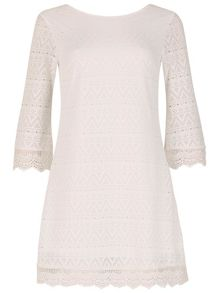 Izabel London Crochet Shift Dress