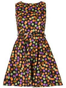 Izabel London Polka Dot Skater Dress