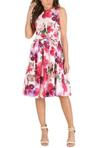 Izabel London Poppy Print Midi Dress
