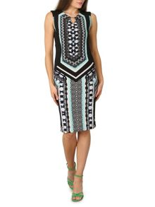 Izabel London Midi Length Panelled Sheath Dress