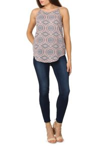 Izabel London Geometric Optical Printed Top