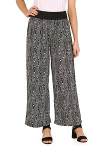 Izabel London Optical Print Wide Leg Trousers