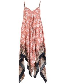 Izabel London Elephant Printed Scarf Hem Jumpsuit
