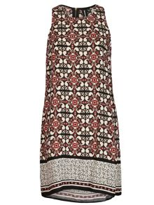 Izabel London Moorish Print Shift Dress