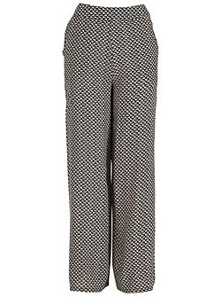 Boucle Palazzo-Style Trousers