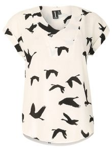 Izabel London Cranes On The Wing T-Shirt