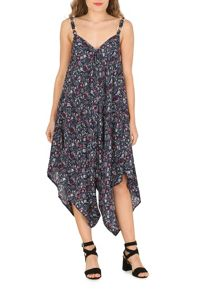 Izabel London Floral Print Oversized Culottes Jumpsuit