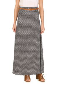Izabel London Monochrome Geometric Print Maxi Skirt