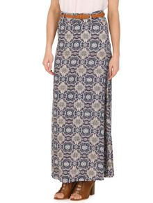 Izabel London Scarf Print Maxi Skirt