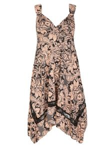 Izabel London Baroque Print Dress
