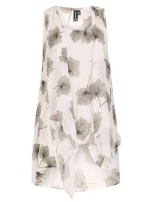Izabel London Floral Tunic Dress With Front Tie
