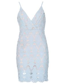 Izabel London Sundress With Crochet Lace Overlay