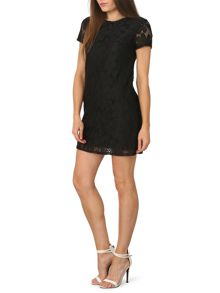 Izabel London Net and Mesh Shift Dress