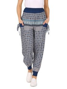 Izabel London Harem Pants With Self Tie Detail