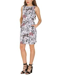 Izabel London Fitted Dress With Woodland Print