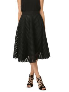 Izabel London Full Circle Mesh Midi Skirt