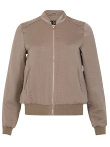 Izabel London Sateen Bomber Jacket