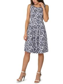 Izabel London Chrysanthemum Print Midi Dress