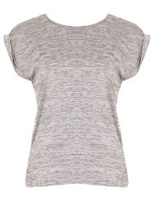Izabel London Marl T-Shirt With Dip Back Hem