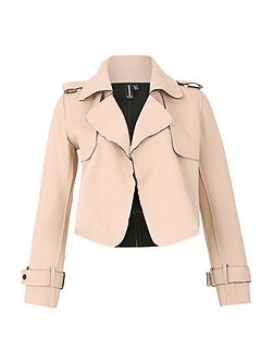 Crop Jacket With Wide Collar