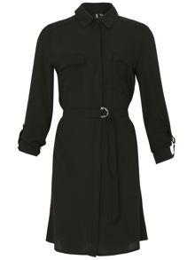 Izabel London Shirt Dress With Feature Belt