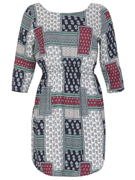 Izabel London Patchwork Print Dress