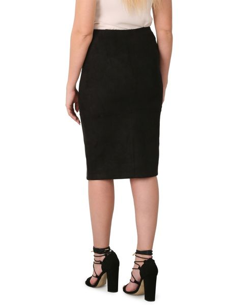 Izabel London Suedette Pencil Skirt