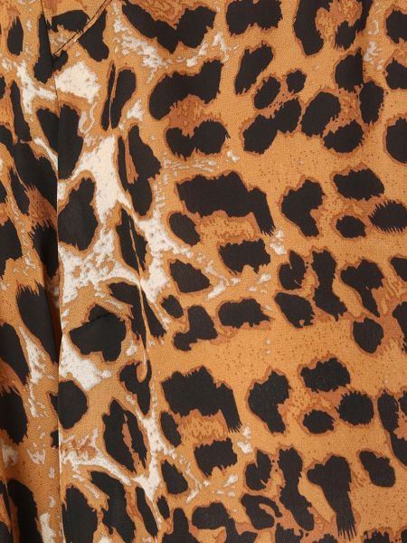 Izabel London Leopard Print Reveal Back Top