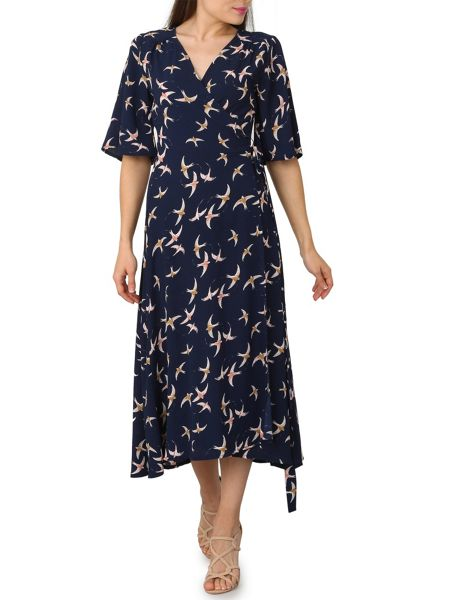 Izabel London Vintage Style Wrap Dress