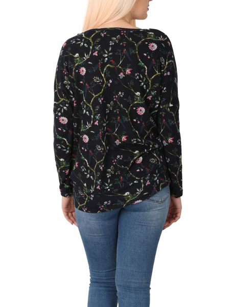 Izabel London Floral Swallow Print Top