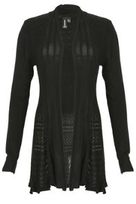 Izabel London Crochet Effect Cardigan