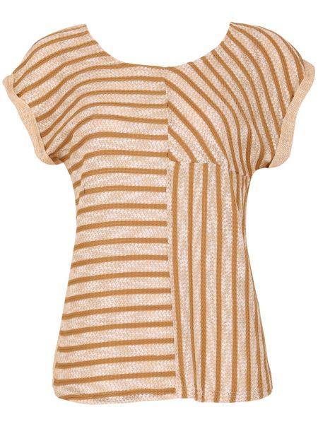 Izabel London Contrast Panel Stripe Top