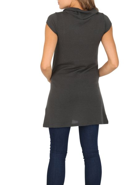 Izabel London Tunic Top with Oversized Buttons