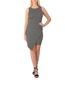 Izabel London Geometric Cut Hem Dress