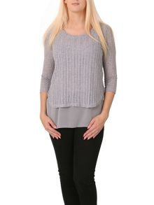 Izabel London Ribbed Layer Top