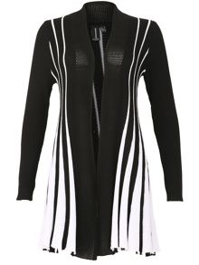 Izabel London Vertical Stripe Cardigan