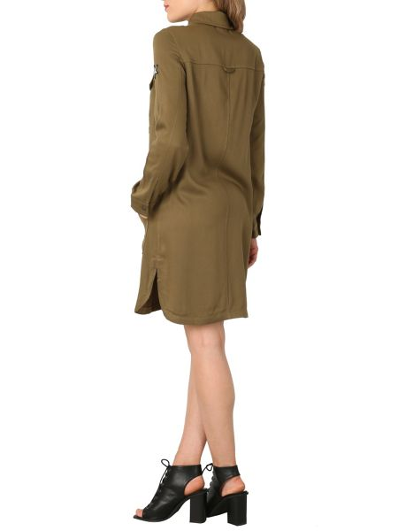 Izabel London Utility Shirt Dress