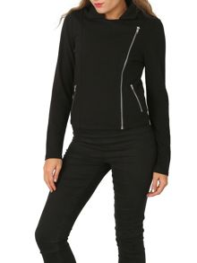 Izabel London Soft-Touch Biker Jacket
