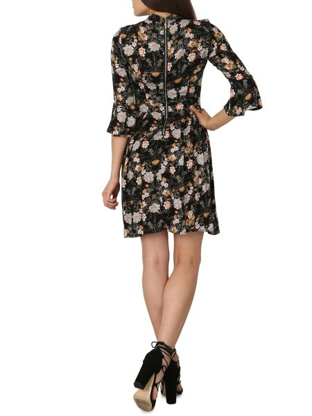 Izabel London Stand Collar Floral Dress