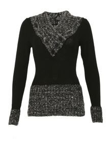 Izabel London Cuffed V-Neck Jumper