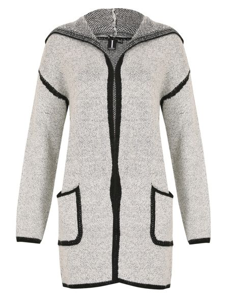 Izabel London Blanket Style Hooded Coat