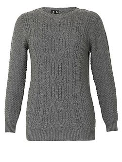 Long Sleeve Patterned Knitted Pullover