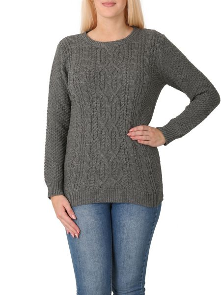 Izabel London Long Sleeve Patterned Knitted Pullover