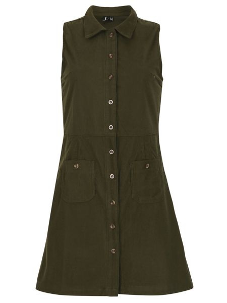 Izabel London Sleeveless Button Up Collar Dress