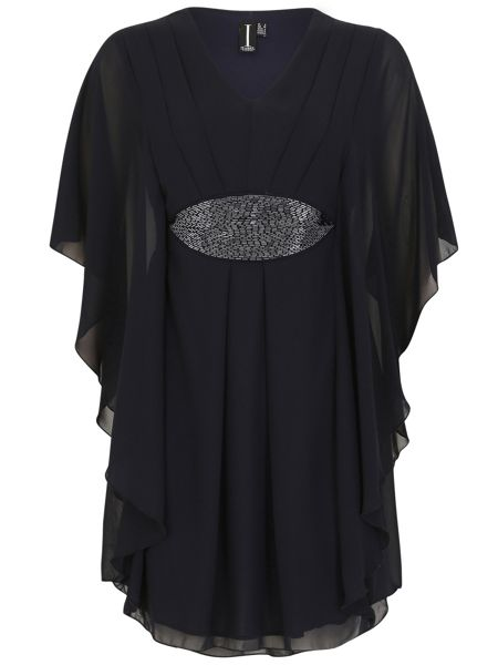 Izabel London Batwing Tunic With Sequin Detail